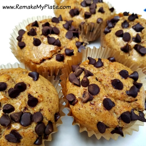 Peanut Butter Chocolate Chip Keto Muffins